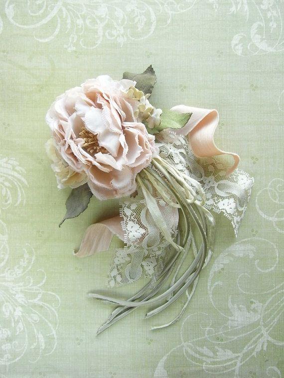 Цветы для открытки из ткани, дню пожилого человека