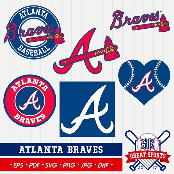 Atlanta Braves SVG, Atlanta Beisball Clipart,Atlanta Braves DXF, Baseball Clipart, Braves Clipart,Clipart SVG, mb-09
