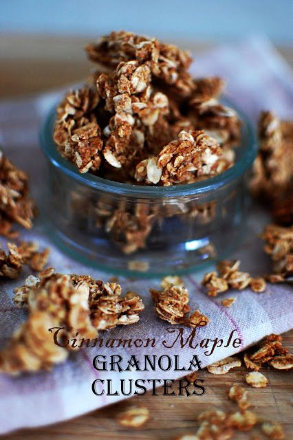 Food, Fun & Life: Cinnamon Maple Granola Clusters