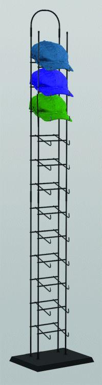 baseball cap hat rack display tier tower floor standing fixture black new wooden racks for caps