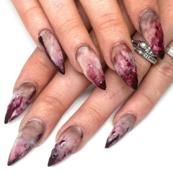 50+ coole Halloween Nail Art Designs für 2018; Gruselige Halloween-Nägel; süß ein … – NAILS