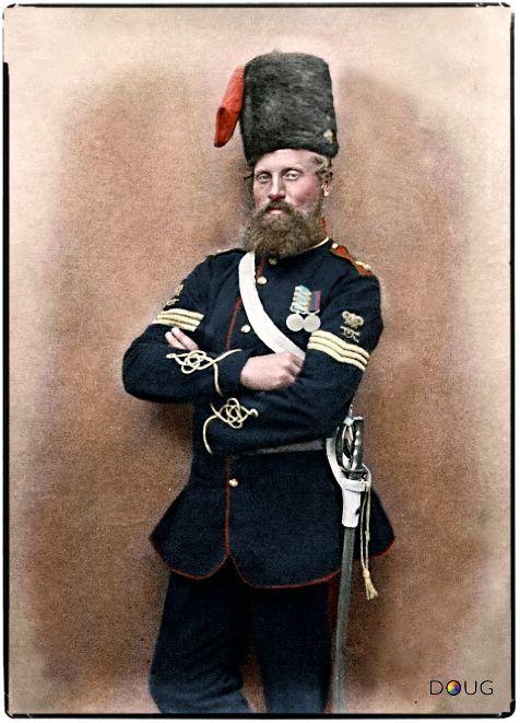 Sergeant Robert Glasgow (Service Nº 1544) 14th Battalion Royal Artillery, 1856