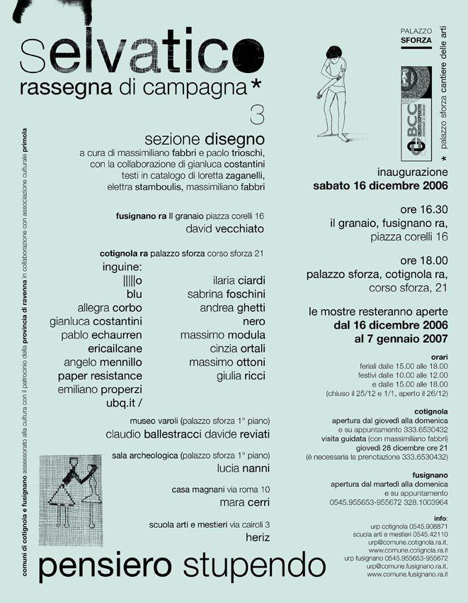 Selvatico rassegna di campagna/Pensiero stupendo/2006