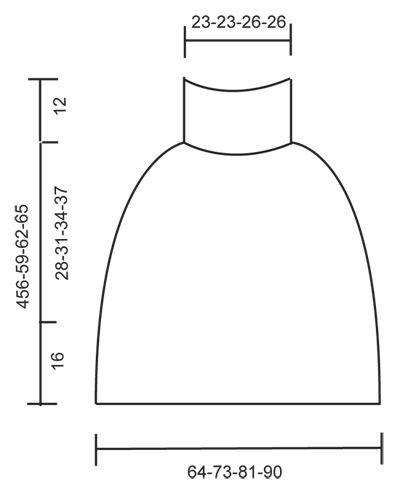 """Poncho DROPS lavorato ai ferri a maglia rasata con motivo traforato, lavorato dall'alto in basso, in """"Polaris"""". Taglie: S - XXXL. ~ DROPS Design"""