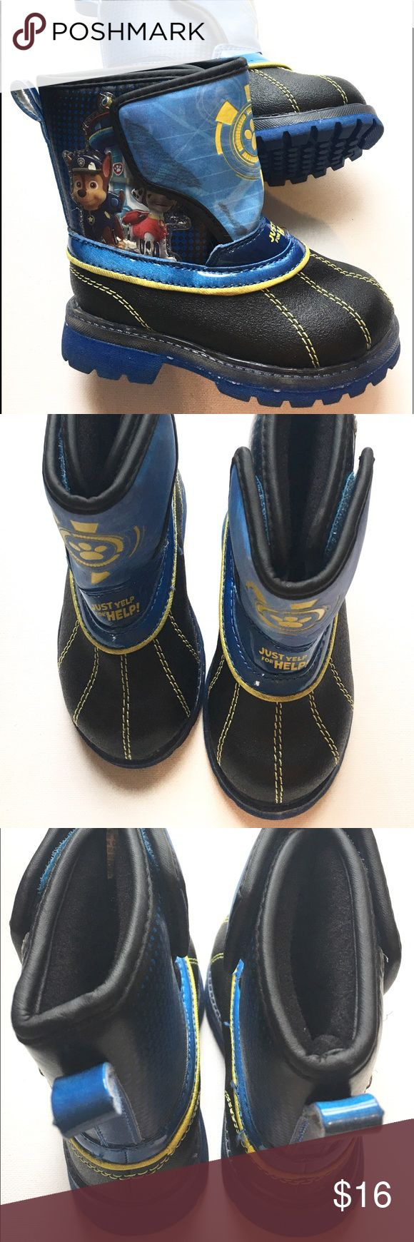 """Paw Patrol Light Up! Toddler Snow Boots New Paw Patrol toddler Boots. Light Up Boots. Size small 5/6. Paw Patrol """"Just Yelp for Help"""" Paw Patrol Shoes Boots"""