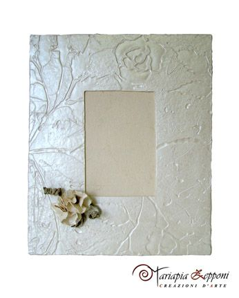Handmade paper photoframe Amazing wedding accessories by Mariapia Zepponi Italy