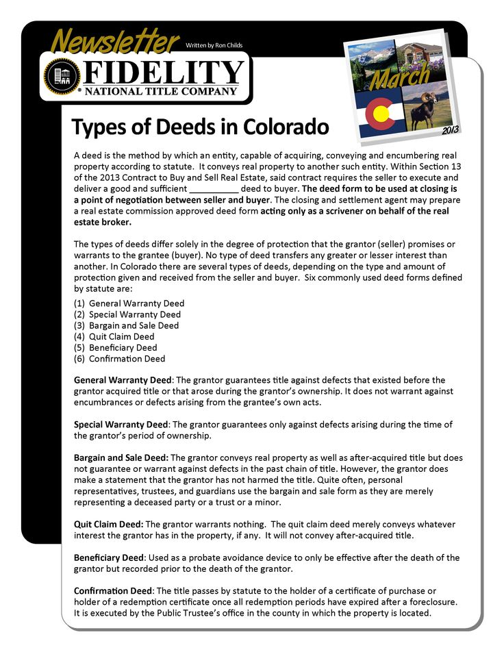 29 best FNTC Monthly Newsletter images on Pinterest Aspen - quit claim deed