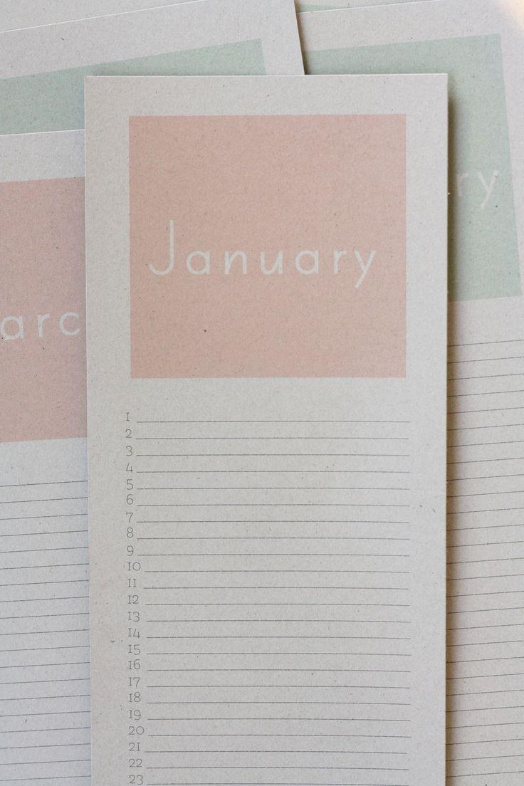 perpetual birthday calendar {free printable!}   rice designs                                                                                                                                                                                 More