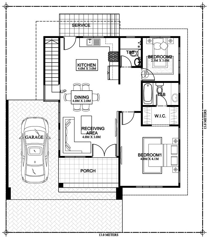 Kassandra Two Storey House Design With Roof Deck Pinoy Eplans Two Storey House Model House Plan House Plans