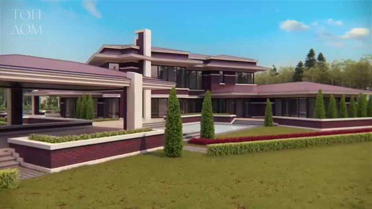 Архитектурный проект дома из красного кирпича площадью 680 кв.м