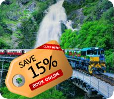 Get special benefit and enjoy a day visiting kuranda with beautiful kauranda scenic railway with free time kuranda village to explore and enjoy its multitude of attractions including Kuranda Markets.