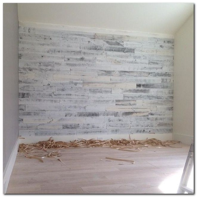 Wood Feature Accent Wall Ideas Using Flooring: DIY Laminate Flooring On Walls And 30+ Inspirations