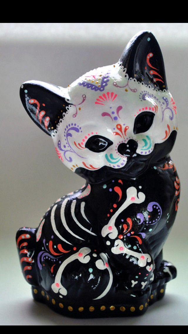 Sugar skull cat                                                                                                                                                                                 More