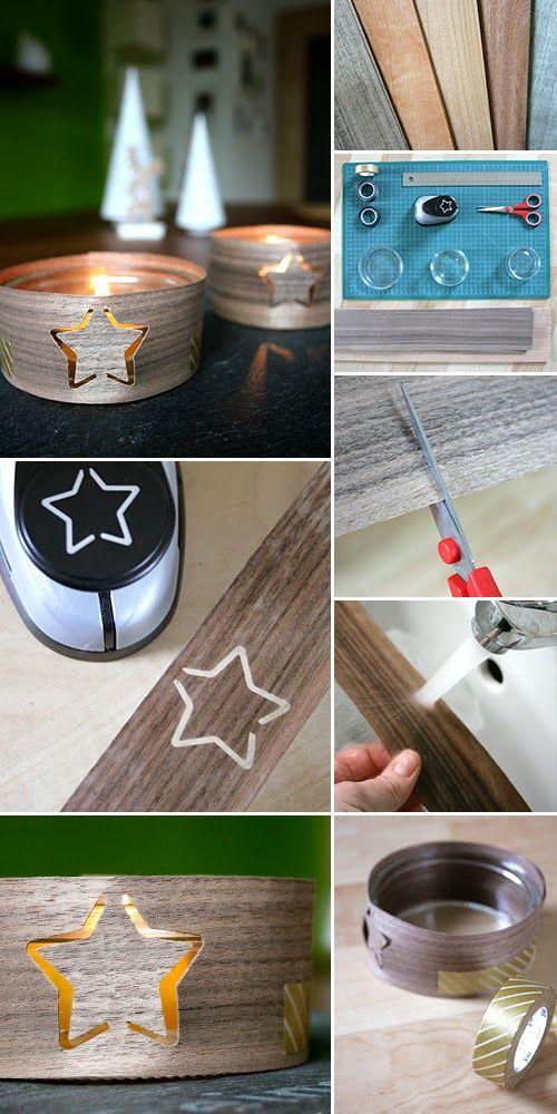 Furnier, Weihnachten, Winter, Giveaway, Holz, Licht, Kerzenlicht, DIY,