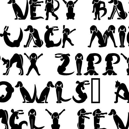 Dog Cat Font