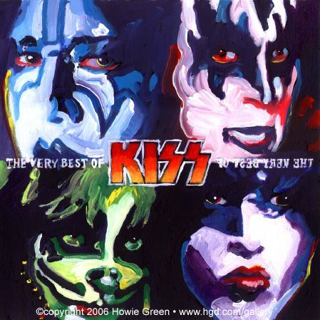 KISS album cover painting | You can see my complete collecto… | Flickr