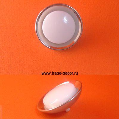 ВАВ1835 белый+никель на ножке