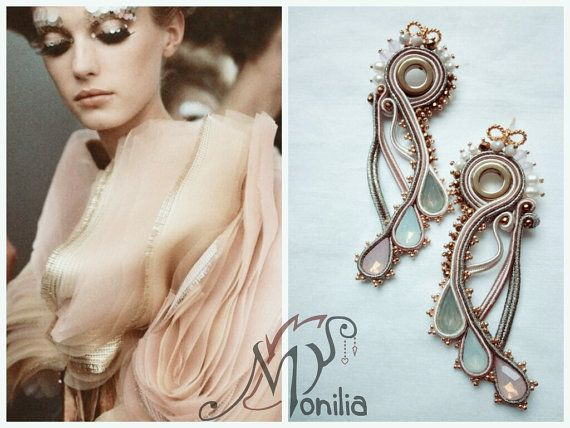 soutache earrings by SimonaRotaris on Etsy