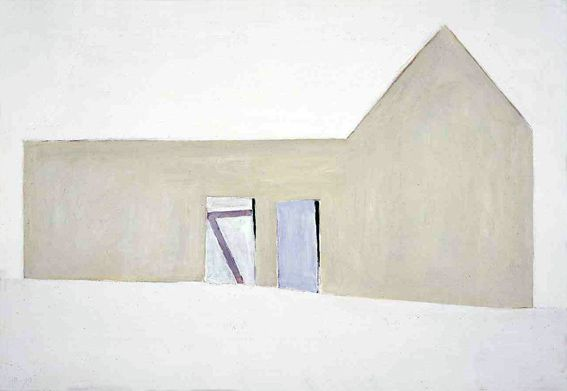 Snø, 1999, 61x89cm, akryl og olje - tilhører Lillehammer Kunstmuseum