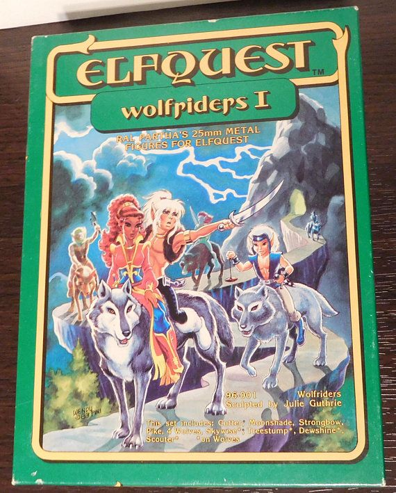 Ral Partha Elf Quest  Boxed Sets 25mm Wolfriders I