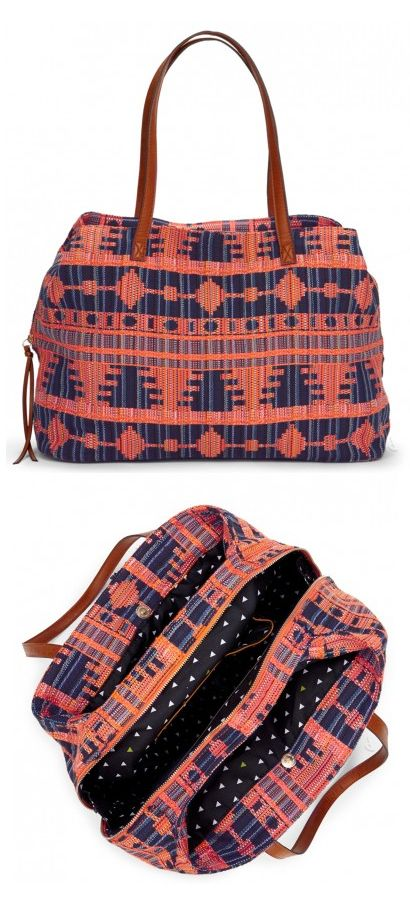 Woven pattern tote // my next carry on - love! #luggage_design