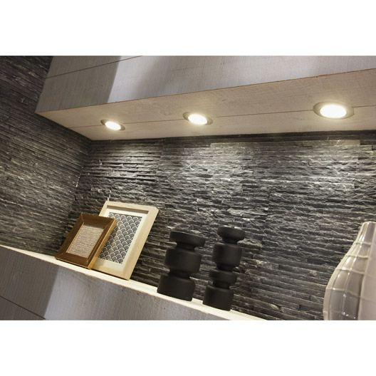 plaquette de parement ardoise stri e en pierre naturelle noir palette pinterest. Black Bedroom Furniture Sets. Home Design Ideas