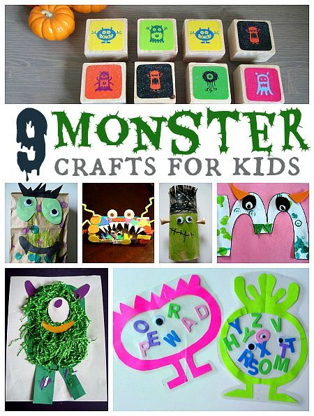 A whole bunch of monster crafts and activities for