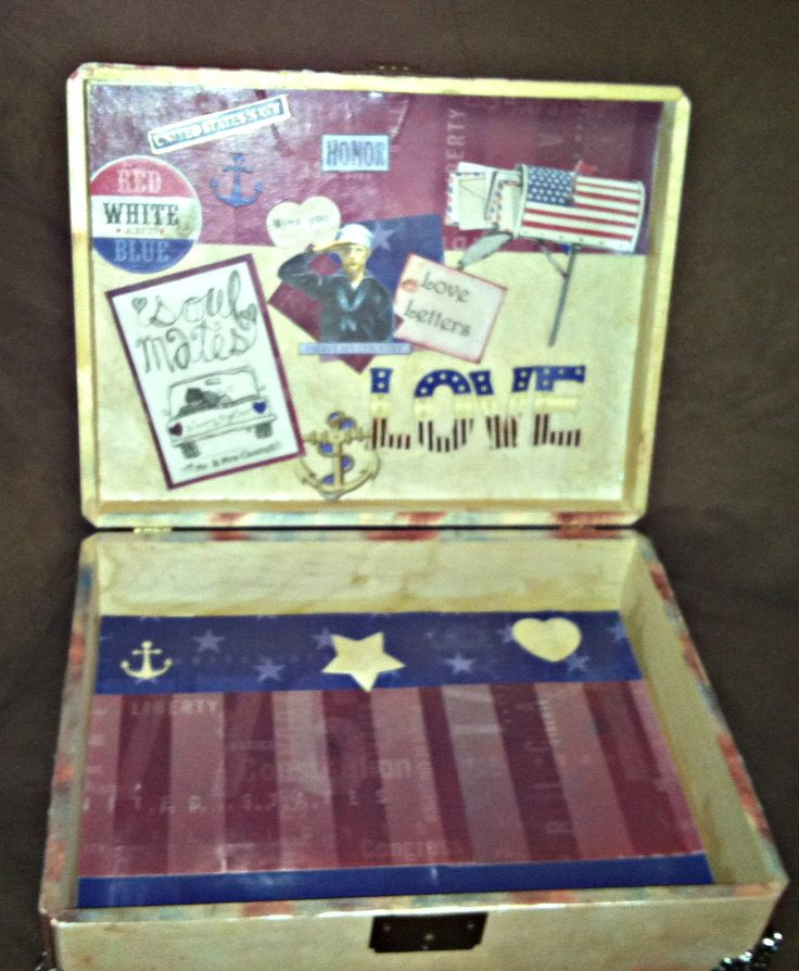 Military Love Letter Box    http://www.etsy.com/shop/MilitaryKindOfLove