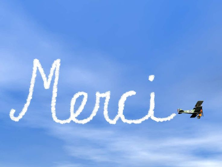 how to say thank you in French merci