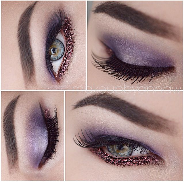 ✨ Purple Rain ✨ Products: Watt, Louder, Thistle and Cava Eyeshadows from @makeupstore Courageous Glitter from @makeupstore Volume mascara from @makeupstore Black Cake Eyeliner from @makeupstore Mixing Liquid from @makeupstore Anti Crease Eye Shadow Primer from @toofaced Dipbrow Pomade in Ebony from @anastasiabeverlyhills  Brushes from @sigmabeauty  #makeupartist #smink #eotd #fotd #motd #vegas_nay #makeupbyannaw #anastasiabeverlyhills  #wakeupandmakeup #eyeliner  #makeup #annawawer…