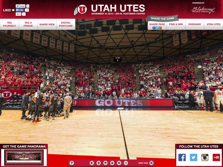 Utah Utes Basketball Gigapixel - Blakeway Gigapixel | http://gigapixel.panoramas.com/utah/basketball/20151116 - On November 16, 2015, a 360° fan photo was taken of Utes fans at Jon M. Huntsman Center during a men's basketball game.