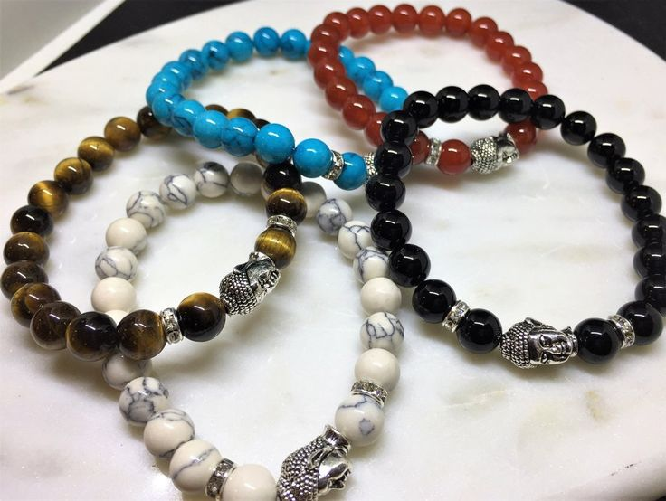 Variants: Turquoise, Black Onyx, Red Dragon Veins Agate, Tiger Eye  If you wish to purchase a size that is out of stock, please send us an email with your prefe