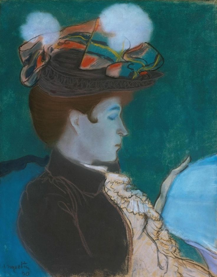 Louis Anquetin 'Girl Reading a Newspaper', 1890