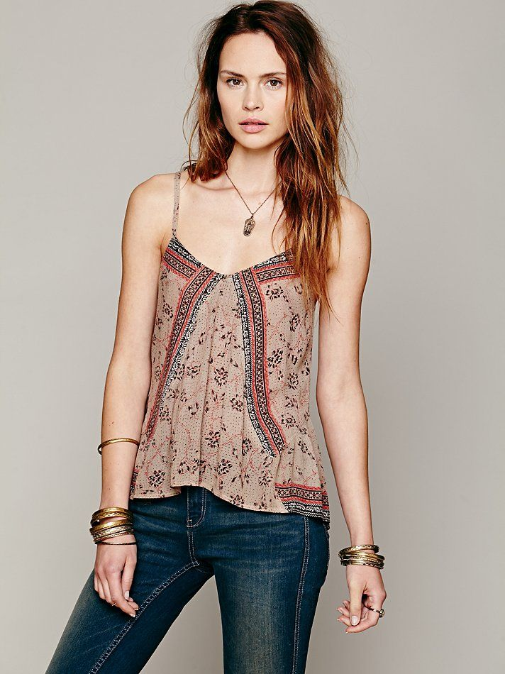 Free People FP ONE Mixed Print Tank