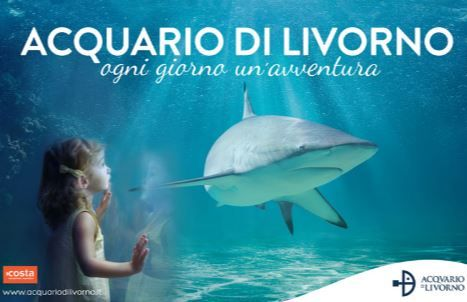 2017 - Acquario di Livorno- Livorno's Aquarium, Livorno, Piazzale Mascagni 1; open until June 30, 10 a.m.-6 p.m.; on weekends, 10 a.m.-7 p.m.; July 1-Aug. 31, 10 a.m.-7:30 p.m.; Sept. 1-24, 10 a.m. – 6 p.m.; Sept. 26 –Dec. 31, open on weekends, 10 a.m.-6 p.m.; last admission is  one hour before the closing time; admission: €14; reduced €8 for 26 for children younger than 13 and taller than 39.37 inches; free entrance for children shorter than 39.37 inches; €12 for senior citizens above 65.