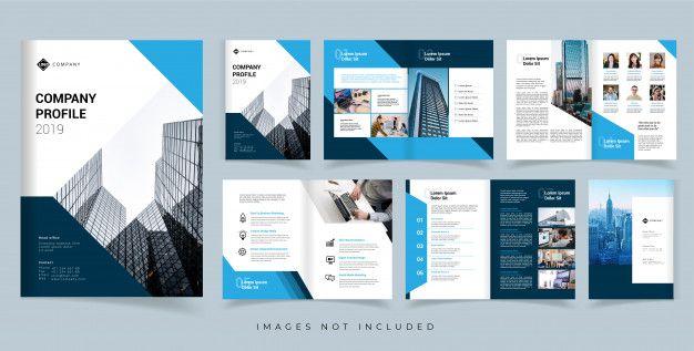 Company Profile Brochure Vector Design Template Annual Report Vector Design Template In 2020 Company Profile Design Company Profile Template Company Profile