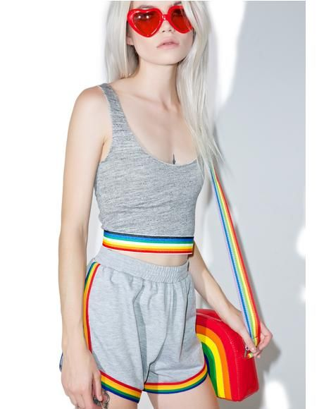 Rainbow Bralette #CampCollection x @dollskill