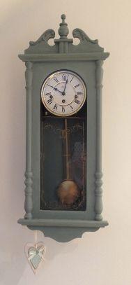 Clock After Annie Sloan Duck egg blue chalk paint