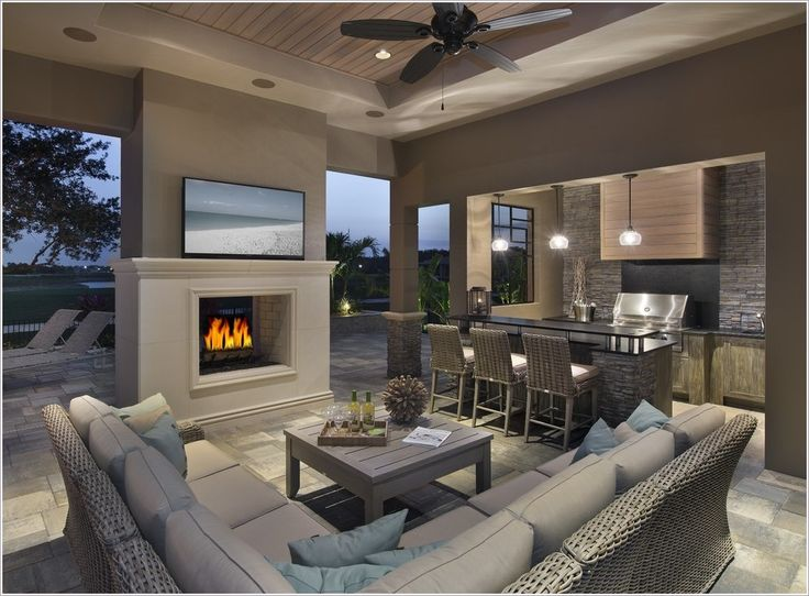 elevated fireplace design