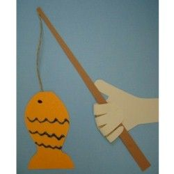 Handprint Fishing Pole Craft  Monday, June 18th is Fishing Day