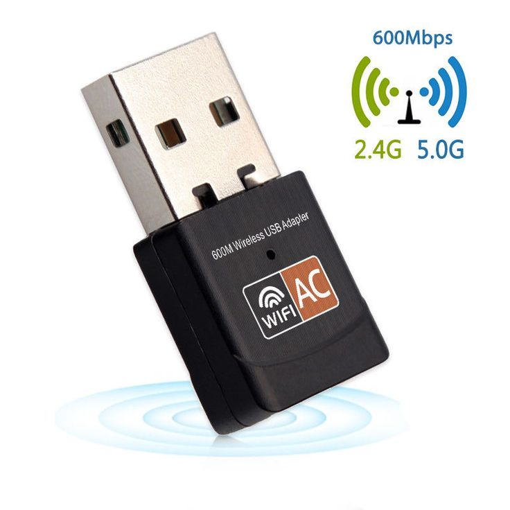 Wireless USB WiFi 802.1ac Adapter 600Mbps Antenna PC Network Card Dual Band #RIO