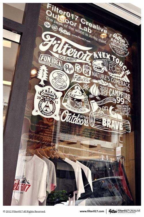 Filter017: Logo, Window Display, Window Graphics, Shops Window, 2012 Filter017, Window Design, Types Treatments, Stores Window, White Ink