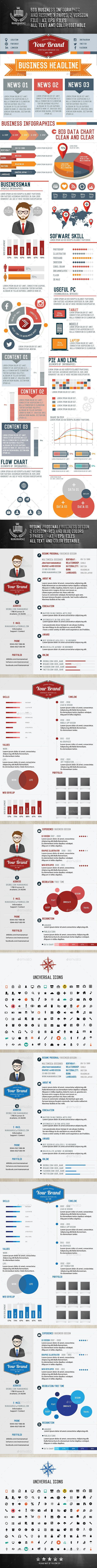 52 best Infographics CV\'s images on Pinterest   Creative resume ...