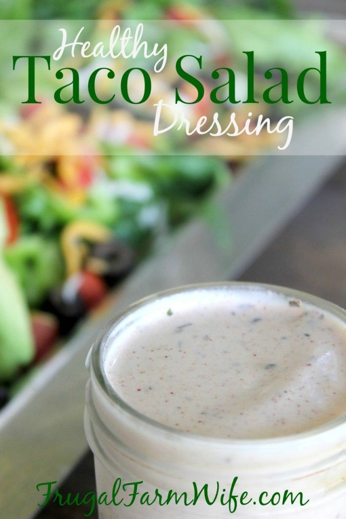 This taco salad dressing is not only delicious and easy to make, it's healthy!