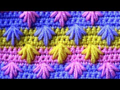 Узор Косички из рельефных столбиков - YouTube