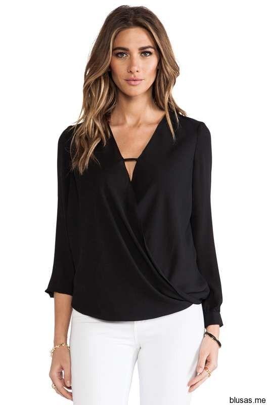 I➨ Blusas sueltas de fiesta moda 2014 - 11
