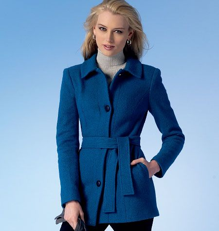 McCall's Misses'/Miss Petite Jackets, Coats and Belt 7058