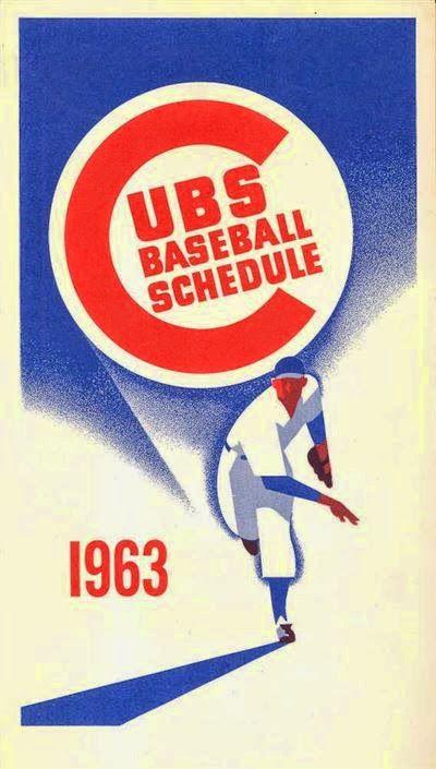 Otis Shepard - Chicago Cubs Schedule, 1963