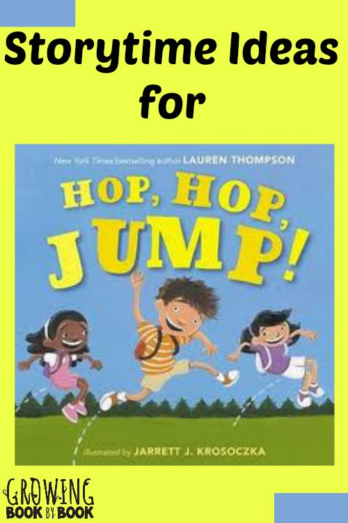 Storytime ideas for Hop, Hop, Jump! by Lauren Thompson. Check out these fun follow-activities to the book for little ones.