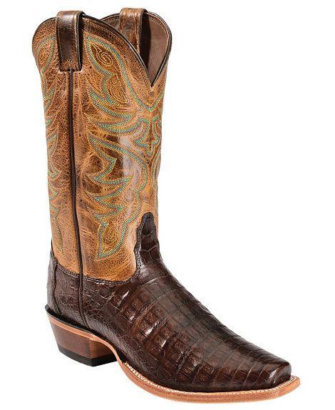 Nocona Caiman Cowboy Boots Narrow Square Toe Cowboy